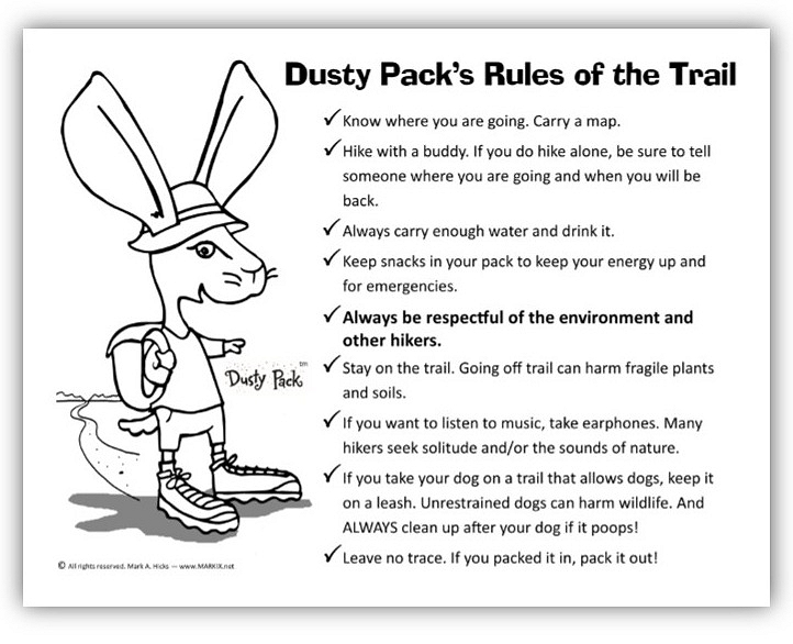 trail etiquette coloring pages | Grand Canyon Coloring Page